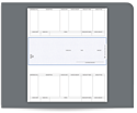 Picture of Laser Middle 1-Part Checks, Accounts Payable, Peachtree® Compatible, Unlined