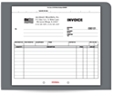 "Picture of 8-1/2"" x 7"" 3-Part Carbonless Snap Set Invoice"