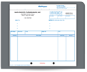 "Picture of 8-1/2"" x 7"" 5-Part Carbonless Snap Set Quik-Type® Invoice"