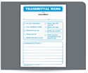 "Picture of 4-1/4"" x 5-1/2"" 1-Part Padded Transmittal Memo Letter"