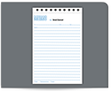 "Picture of 5-1/2"" x 8-1/2"" 2-Part Carbonless Memo Letter Book"