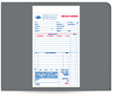 "Picture of 5-1/2"" x 8-1/2"" 3-Part Carbonless Repair Order Book"