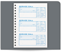 """Picture of 6-1/2"""" x 8-1/2"""" 2-Part Carbonless Service Call Book"""