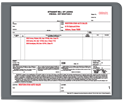 """Picture of 8-1/2"""" x 7"""" 3-Part Carbonless Continuous Bill Of Lading"""