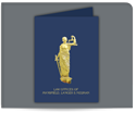 Picture of Foil Lady Justice Standard Presentation Folder