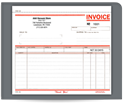 "Picture of 8-1/2"" x 7"" Carbonless Snap Set Invoice"