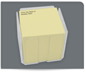 "Picture of 2-3/4"" Post-it® Note Cube Acrylic Holder"