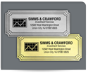 "Picture of 1-1/4"" x 3"" Foil Advertising Labels"