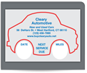 Picture of Static Cling Windshield Labels, Style 2