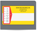 "Picture of 2-15/16"" x 5"" Continuous Specialty Mailing Label"