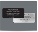 "Picture of 7/8"" x 2"" Rectangle Property ID Labels"