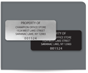 "Picture of 1"" x 2-1/2"" Rectangle Property ID Labels"
