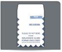 "Picture of 9"" x 12-1/2"" Self Seal HCFA Window First Class Catalog Envelope"