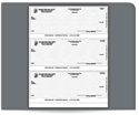 Picture of Laser 3-To-A-Page Carbonless Checks, QuickBooks® Compatible, Unlined