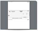 Picture of Laser Middle Carbonless Checks, MAS and Sage® Businessworks™ Compatible, Unlined