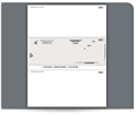 Picture of Laser Middle Carbonless Checks, Payroll, Peachtree Compatible, Unlined