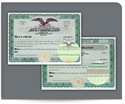 Picture of Standard Stock Certificates