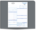 "Picture of 8-1/2"" x 11"" 3-Part Carbonless Snap Set Service Order Invoice"