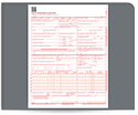 "Picture of 8-1/2"" x 11"" Laser Cut Health Insurance Claim Form (HCFA)  (02/12 Version)"