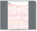 "Picture of 8-1/2"" x 11"" 2-Part Carbonless Snap Set Health Insurance Claim Form (HCFA) (02/12 Version)"