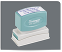 Picture of Xstamper®  Eco-Green®  Pre-Inked Business Address/Notary Stamp