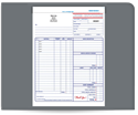 "Picture of 8-1/2"" x 11"" 3-Part Carbonless Snap Set Job Invoice"