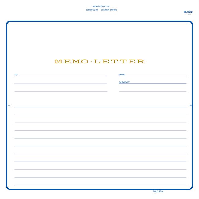 8 12 x 7 78 2 part carbonless snap set memo letter