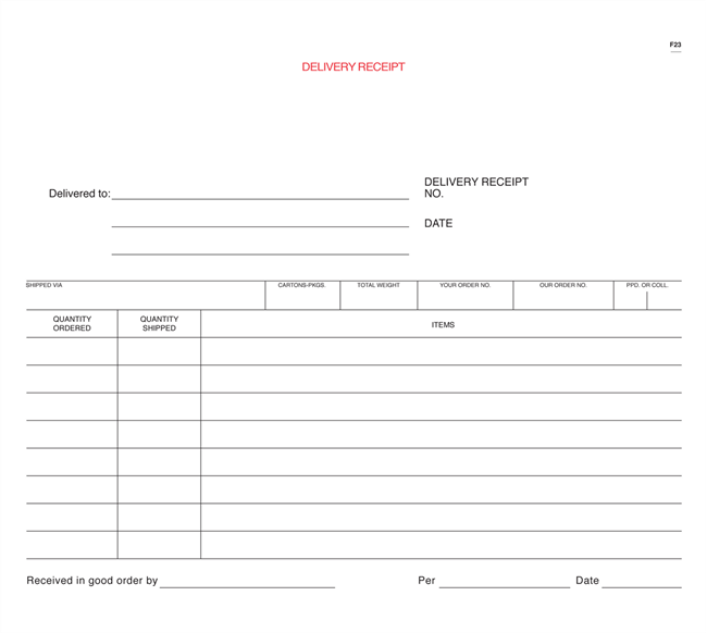 Stationery House | Shipping & Receiving Forms | DrawingBoard® Printing