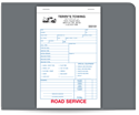 "Picture of 5-1/2"" x 8-1/2"" 3-Part Carbonless Road Service Book"