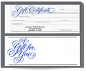 Picture of 2 Part Gift Certificates
