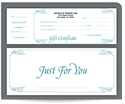Picture of 1 Part White Gift Certificates