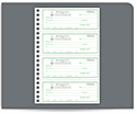 "Picture of 7-3/8"" x 11"" 2-Part Carbonless Receipt Book"