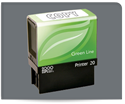 Picture of 2000 Plus® Green Line Self-Inking Small Return Address/Notary Stamp