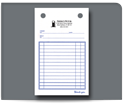 "Picture of 4"" x 6-1/2""  Carbonless Continuous Register Form"