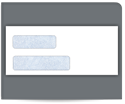 Picture of #9 Gum Seal Double Window Security Envelope