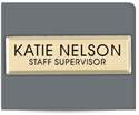 "Picture of 1"" x 3"" Metal Badge"