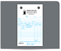 """Picture of 4"""" x 6-1/2"""" Carbonless Continuous Register Form"""