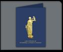 Picture of Foil Lady Justice Standard Presentation Folder