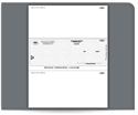 Picture of Laser, 1-Part, Middle Checks, MAS and Sage® Businessworks™ Compatible, Unlined