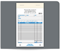 """Picture of 5-1/2"""" x 8-1/2"""" 3-Part Carbonless Sales Books"""