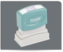 Picture of Xstamper® Eco-Green® Pre-Inked Return Address Stamp