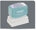 Picture of Xstamper® Eco-Green® Pre-Inked Endorsement/Notary Stamp