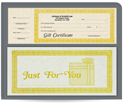 Picture of 1 Part Ivory Gift Certificates