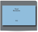 """Picture of 9"""" x 12-1/2"""" Legal  Document Cover"""