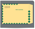 "Picture of 9"" x 12""  KWIK-TAK® Kraft First Class Envelope"