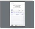 "Picture of 3-1/2"" x 5-1/8"" 2-Part Carbonless Sales Book"