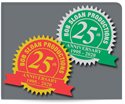 "Picture of 1-7/8"" x 1-5/8"" Anniversary Labels"