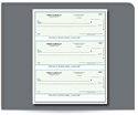 Picture of Laser 3-To-A-Page, 1-Part, Checks, QuickBooks® Compatible, Lined